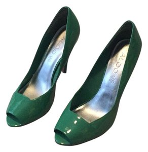 ALDO Green Pumps