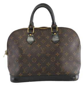 Louis Vuitton Lv France Vuitton Noir Tote Satchel in Monogram