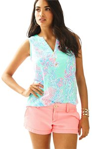 Lilly Pulitzer Fantasea Essie Palm Beach Style Top Minty Fresh
