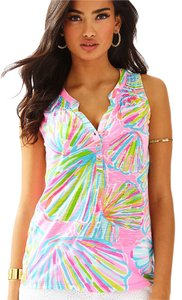 Lilly Pulitzer Essie Shellabrate Palm Beach Style Top Pink Pout
