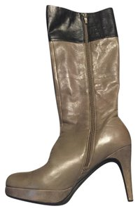 Marc Fisher Leather Zip taupe / multi Boots