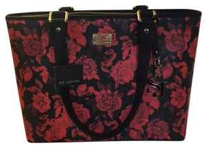 St. John Tote in Black Red