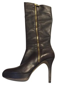 Vince Camuto Leather Zip dark brown Boots