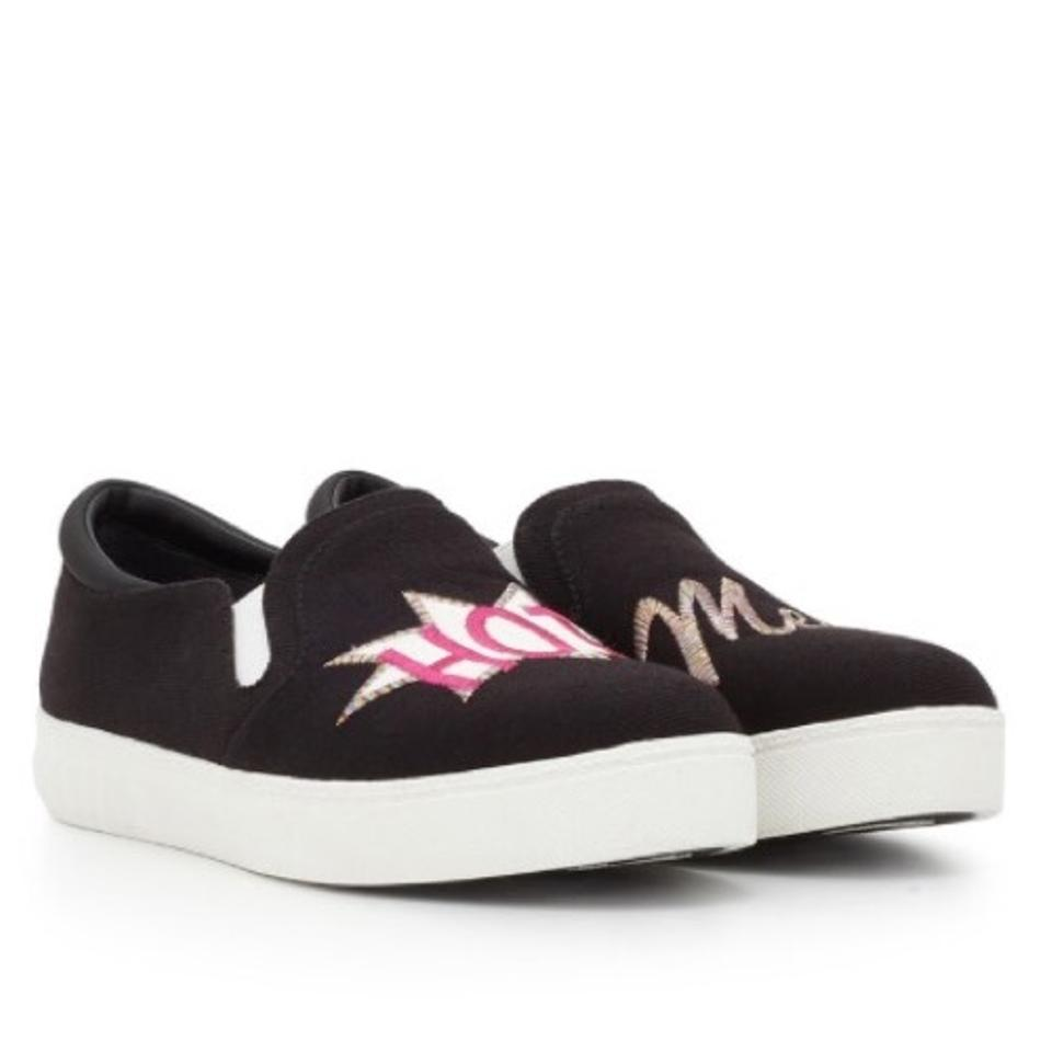 9e83308317ce Circus by Sam Edelman Charlie Hot Mess Slip On Black   White Sneakers  Sneakers Size US 7.5 Regular (M