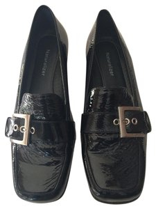 Naturalizer Loafers Patent Leather Black Flats