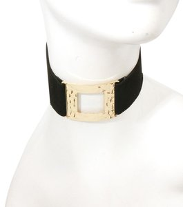Other Metal Suede Choker