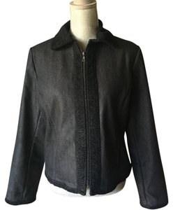 Etcetera Black Womens Jean Jacket