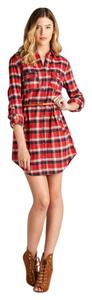 Other short dress Red Plaid Shirt Flannel Plaid Holiday Button Down on Tradesy