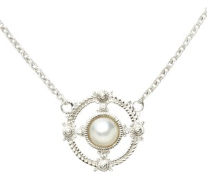 Judith Ripka *Price Reduced* Circle Pearl and Sapphire Pendant