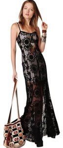 Black Maxi Dress by Free People Lace Coverup Maxi