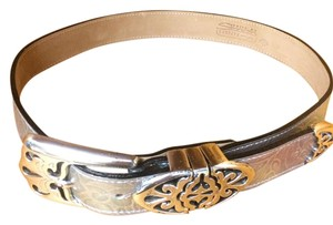 B.B. Simon B.B.Simon Iridescent Silver Belt Small