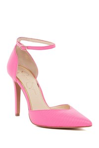 Jessica Simpson Ultra Pink Bright Lizard Print Pumps