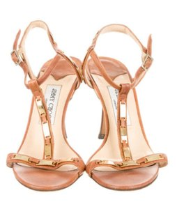 Jimmy Choo Cognac Sandals