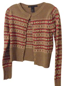 Marc Jacobs Fair Isle Knit Cardigan Cropped Sweater