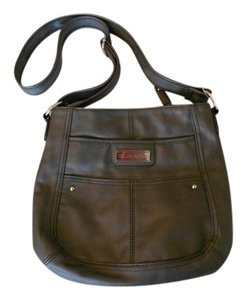 Tyler Rodan Grey Gray Polyurethane Cross Body Bag
