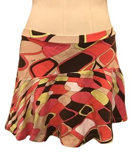 Emilio Pucci Mini Skirt Orange