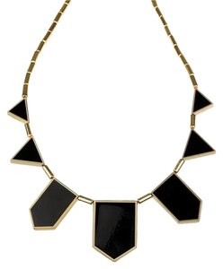 House of Harlow 1960 House of Harlow 1960 Black Leather Classic Station Necklace Black