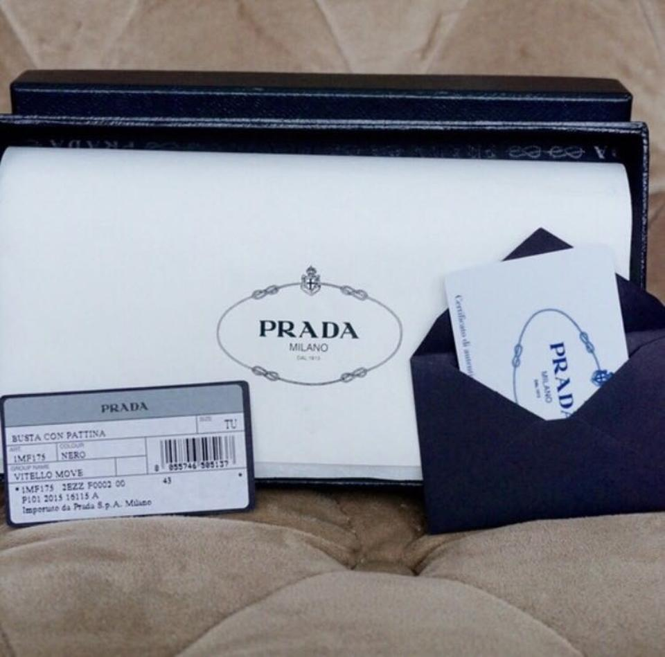5345b4ef0bd7 Prada Prada Saffiano Leather Envelope Wallet Image 5. 123456