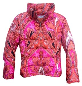 Bogner Down Ski Fuschcia/Orange Paisley Jacket