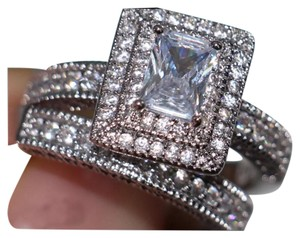 Other New 2PC Vintage Style 4CT Wedding Ring Set