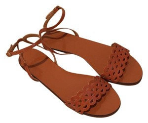 J.Crew Brown Patent Sandals