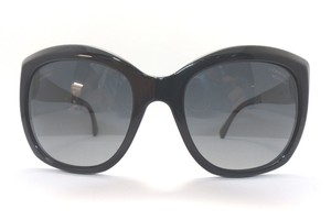 Chanel Black Havana Polarized Square Sunglasses