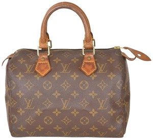 Louis Vuitton Monogram Speedy Speedy 25 Satchel in Brown