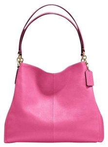 Coach Pebbled Leather Leather Hobo Bag