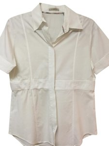 Burberry Cotton Button Up Shirt Button Down Shirt White