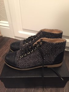 Chanel Navy Boots