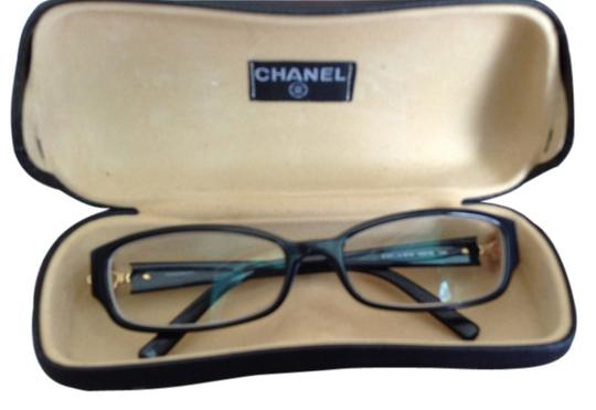 Chanel Flower Eyeglass Frames : Chanel black eyeglasses with side flower - 59% Off Retail ...