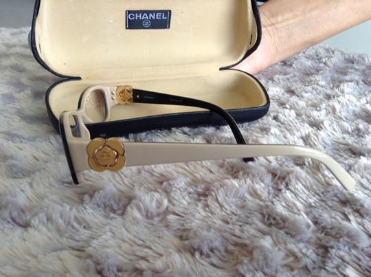 Chanel Chanel black eyeglasses with side flower