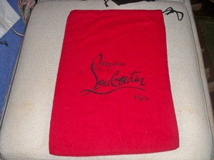 Christian Louboutin New Christian Louboutin Dust bag Red with Black Logo