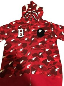 Bathing Ape Collaboration Cotton Red Jacket