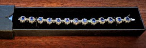 Tanzanite 10.66ct & Diamond 6.94ct - 14k White Gold Bracelet