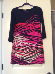 Style & Co short dress Black with bright pink and orange on Tradesy