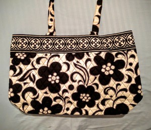 Vera Bradley Day Night Flower Tote Shoulder Bag