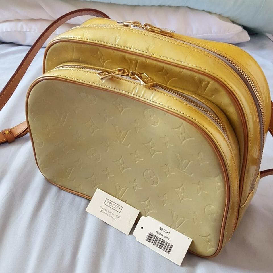15144cd25d1b Louis Vuitton Murray Yellow   Gold Ish Color Vernis Leather Backpack ...
