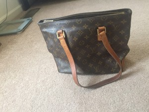 Louis Vuitton Monogram Leather Brown Tote in Brown Monogram