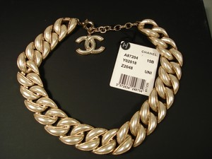 Chanel Chanel Dubai Gold Pearl Shimmery Chains Links Necklace Choker
