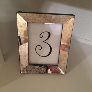 14 Mercury Glass Table Number Holders