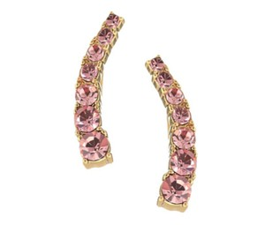 Kate Spade NIB KATE SPADE DAINTY SPARKLERS EAR PIN EARRINGS LIGHT ROSE PINK W BAG
