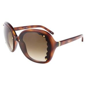 Chloé Chloe Light Havana Oval sunglasses