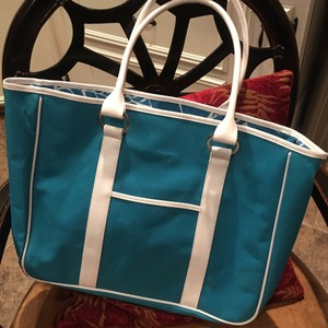 Other Tote in Teal & White