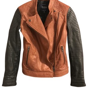 Madewell Black and brown Leather Jacket