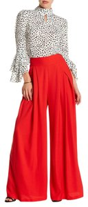 Gracia Wide Leg Pants Red
