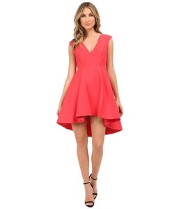 Halston A-line Silk Cotton V-neck Dress
