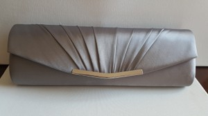 RSVP Satin GREY Clutch