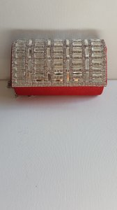 RSVP Rhinestone RED Clutch