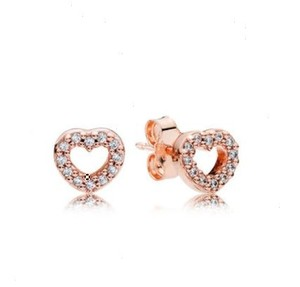 PANDORA Pandora Captured Hearts Pandora Rose Studs